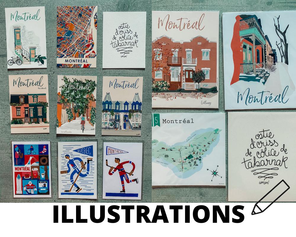 illustrations souvenirs montreal