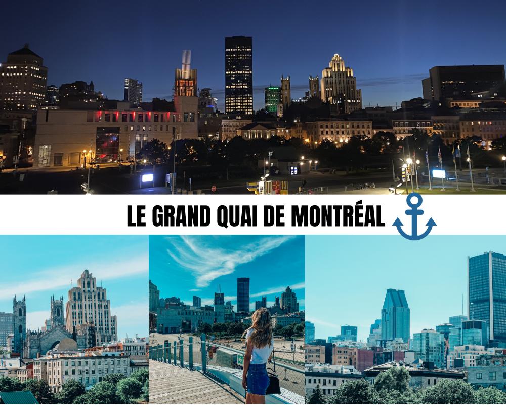 grand quai de Montréal point photo